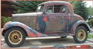 1933 Chevrolet Standard Mercury 3 window coupe for sale $10,000 left side view
