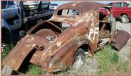 1935 Oldsmobile Series F Six 2 Door 3 Window Hotrod Coupe For Sale $7,500 right rear view