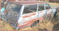 1963 Chevrolet Chevy II Nova 400 Six 4 Door Station Wagon For Sale right rear view