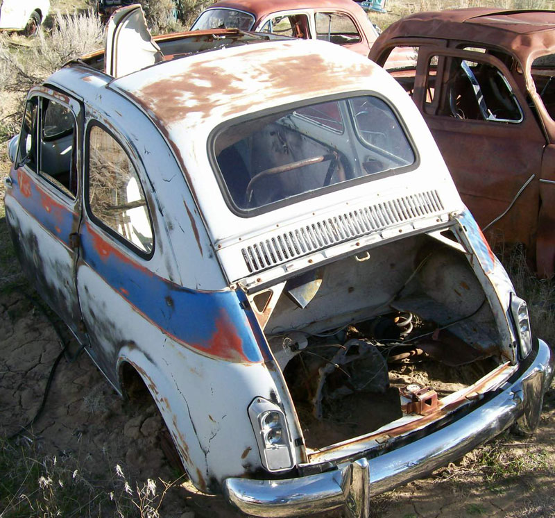 1959 Fiat 500 Nuova 2 Door Mini Car Coupe For Sale