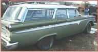 1959 Edsel Villager 6 Passenger 4 Door Station Wagon For Sale right rear view