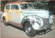1939 Ford DeLuxe Model 91A 2 Door Fastback Sedan For Sale right front view