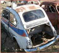 1959 Fiat 500 Nuova 2 Door Mini Car Coupe For Sale $5,000 left rear view