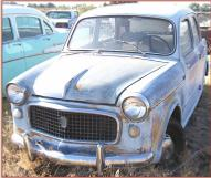 1960 Fiat 1100 Model 103 Special 4 Door Sedan For Sale left front view