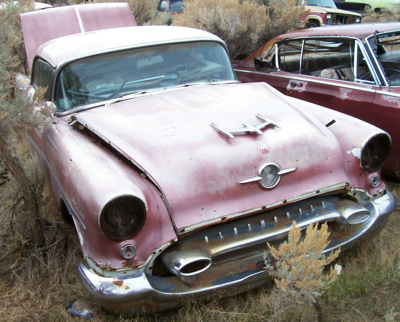 1955 Oldsmobile Ninety Eight 98 4 Door Holiday Hardtop For