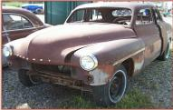 1951 Mercury 4 Door Sport Sedan Body and Chassis For Sale left front view