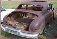 1951 Mercury 4 Door Sport Sedan Body and Chassis For Sale right rear view