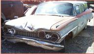 1959 Oldsmobile Super 88 Model M-88 Six Passenger Station Wagon For Sale left front view