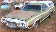 1972 Ford Ranchero Squire 2 Door Car Pickup For Sale $3,500 left front view
