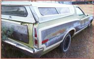 1972 Ford Ranchero Squire 2 Door Car Pickup For Sale $3,500 right rear view