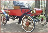"1903 Oldsmobile Curved Dash ""Surrey"" Replica by Bliss For Sale $9,000 right front view"
