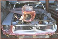 1968 Ford Mustang 289 V-8 2 Door Hardtop Coupe For Sale $6,000  front view