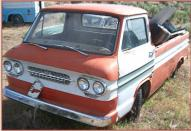 1962 Chevrolet Corvair 95 1/2 ton Loadside Model R12/Series 10 Pickup Truck For Sale $4,000 left front view