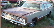 1969 Plymouth Sport Suburban 4 Door 6 Passenger Station Wagon For Sale $4,500 left front view