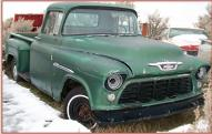 1955 Chevrolet 2nd Series 3200 3/4 Ton LWB Commercial Stepside Pickup Truck For Sale $4,500 left front view
