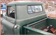 1955 Chevrolet 2nd Series 3200 3/4 Ton LWB Commercial Stepside Pickup Truck For Sale $4,500 left rear cab view