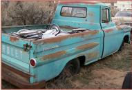1959 Chevrolet Model 3A Apache 3100 1/2 Ton Fleetside Pickup Truck For Sale $4,500 right rear view