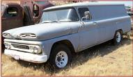 1961 Chevrolet C-30 Apache One Ton LWB Panel Truck For Sale $4,000 left front view