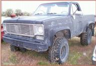 1976 Chevrolet Custom Deluxe 1/2 Ton 4X4 Pickup Truck For Sale $3,500 right front view