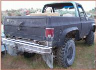 1976 Chevrolet Custom Deluxe 1/2 Ton 4X4 Pickup Truck For Sale $3,500 right rear view