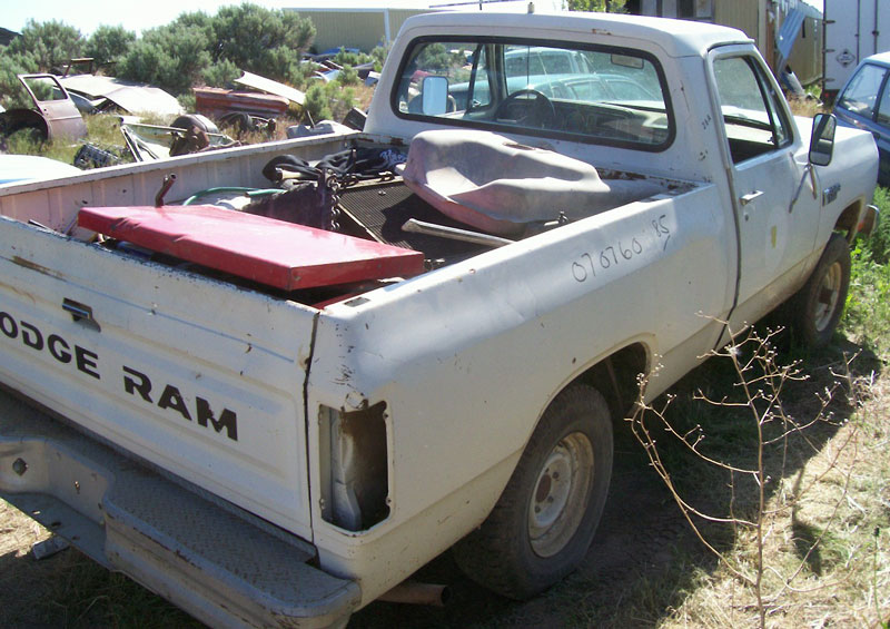 1982 Dodge 150 Custom Power Ram 1/2 Ton Sweptline 4X4 Pickup Truck