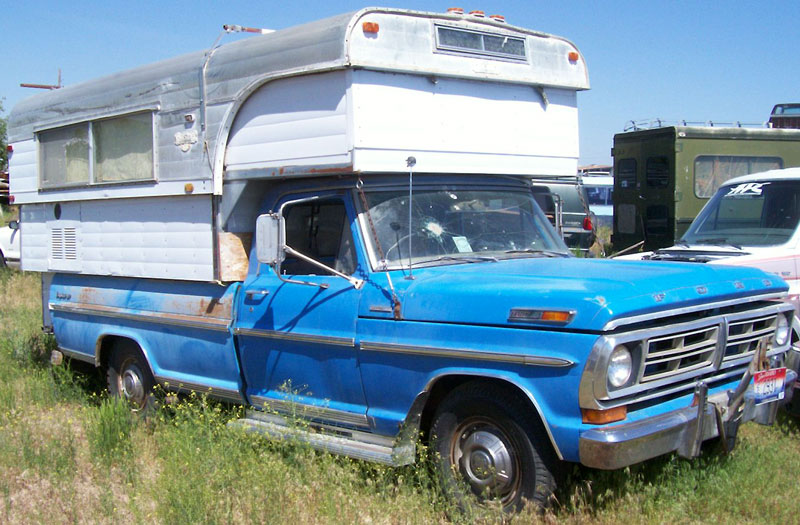 Classics1972 Ford F-250 Camper Special with Alaskan Camper For Sale