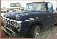 1958 Ford F-100 Styleside Custom Cab 1/2 ton Pickup Truck For Sale left front view