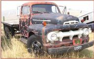1951 Ford F-5 2 Ton Flat Bed Farm Truck For Sale right front view