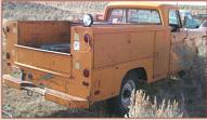 1971 Dodge D200 3/4 Ton 4X2 Utility Box Truck For Sale right rear view