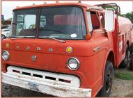 1965 Ford Model C-600 COE Cab-Over-Engine Tilt-Cab Bulk Fuels 5 Window Truck For Sale $3,500 left front view