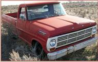 1969 Ford F-100 Styleside 1/2 Ton Pickup Truck For Sale $2,500 right front view