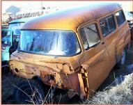 "1957 Dodge Series K6-D100 1/2 Ton 116"" Wheel Base Town Wagon For Sale $1,500 left front view"