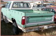 1974 Dodge W100 Club Cab 4X4 Power Wagon 1/2 ton Pickup Truck For Sale $3,000 left rear view