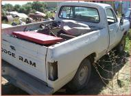 1982 Dodge 150 Custom Power Ram 1/2 Ton Sweptline 4X4 Pickup Truck For Sale $3,000 right rear view