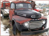 1950 Ford F-4 Series 9RTL One Ton Platform Flatbed Truck For Sale $4,500 left front view