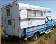 1972 Ford F-250 Camper Special with Alaskan Camper For Sale right rear view