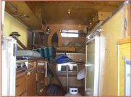 1972 Ford F-250 Camper Special with Alaskan Camper For Sale Alaskan Camper rear interior view