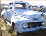 1952 Ford F-1 1/2 Ton Pickup Truck Grey For Sale right front view