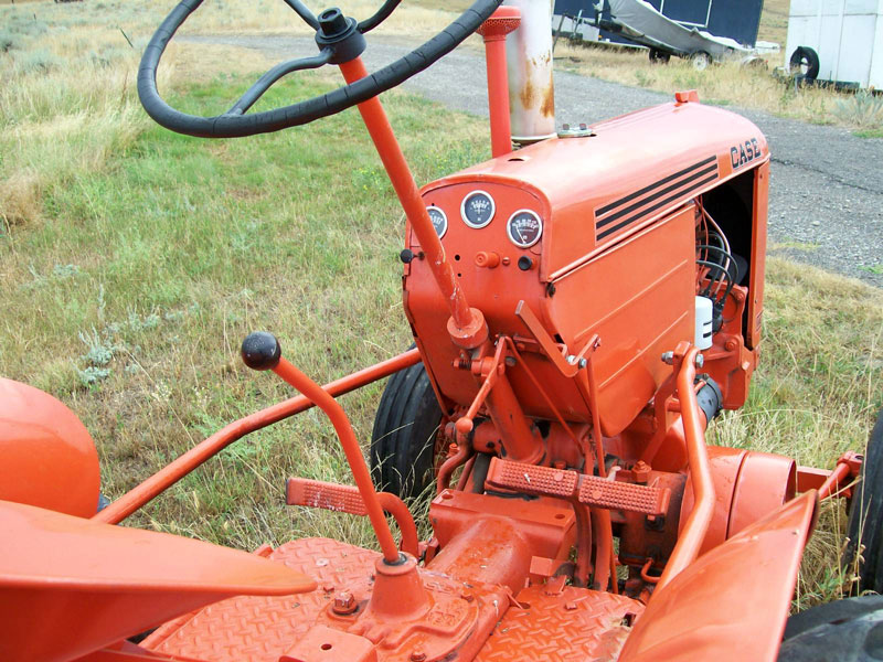 Case Vac Plowing : Case vac wide front farm tractor with eagle hitch for