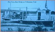 """New Ferry Boat 'Evelyn' on The Yellowstone Trail""...the paddle may have come from this  Upper Missouri stern wheeler paddle boat ferry."
