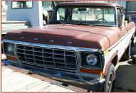 1978 Ford F-150 Custom Styleside 4X4 Pickup Work Truck For Sale left front view