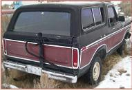 1978 Ford Bronco Ranger XLT 4X4 Sport Utility Vehicle SUV For Sale $3,500 right rear view