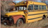 1955 IHC International R-160 1 1/2 Ton 16 Passenger School Bus For Sale $2,500 left front view