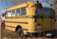 1955 IHC International R-160 1 1/2 Ton 16 Passenger School Bus For Sale $2,500 left rear view