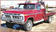 1976 Ford F-250 Ranger 4X4 Flatbed Work Truck For Sale left front view