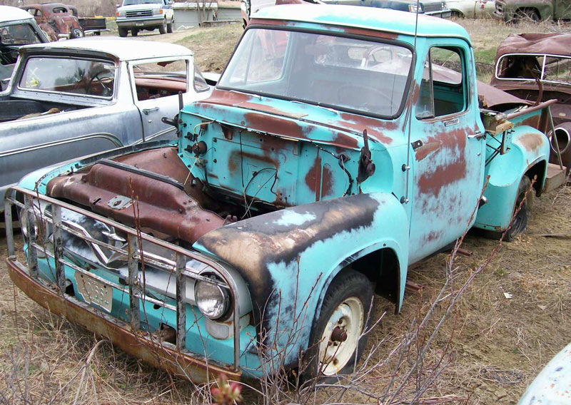 1955 Ford F 100 Custom Cab 1 2 Ton Stepside Pickup Truck