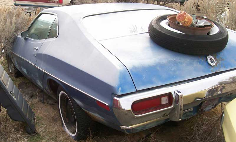 1973 ford gran torino fastback 2 door hardtop for sale 5500 left rear view - Ford Gran Torino Fastback