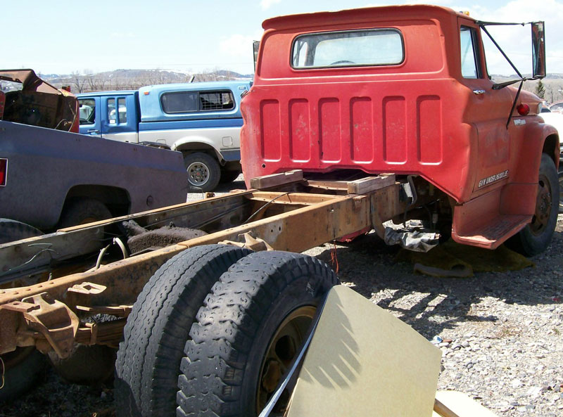 1962 gmc series 4000 2 ton truck for sale 3 500 right rear view