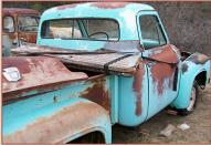 1955 Ford F-100 Custom Cab 1/2 Ton Stepside Pickup Truck For Sale $2,000 right rear view
