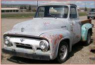 1954 Ford F-100 1/2 Ton Pickup Truck 302 V-8 For Sale $2,500 left front view